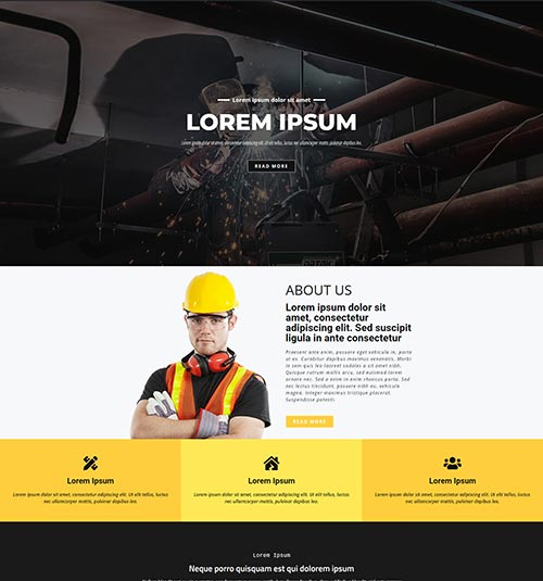 Building template page - free template for elementor