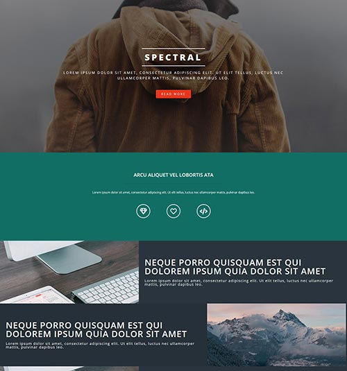Spectral template page - free template for elementor