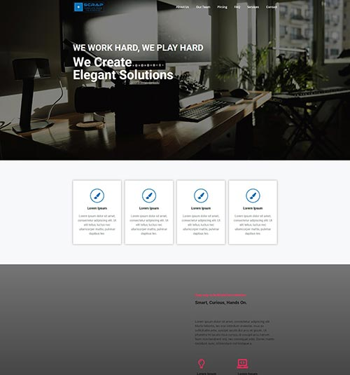 Studio-Design template page - free template for elementor