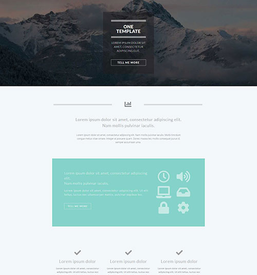 One template page - free template for elementor