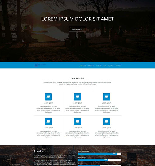 Two template page - free template for elementor